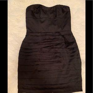 Express Strapless Black satin Dress size 4
